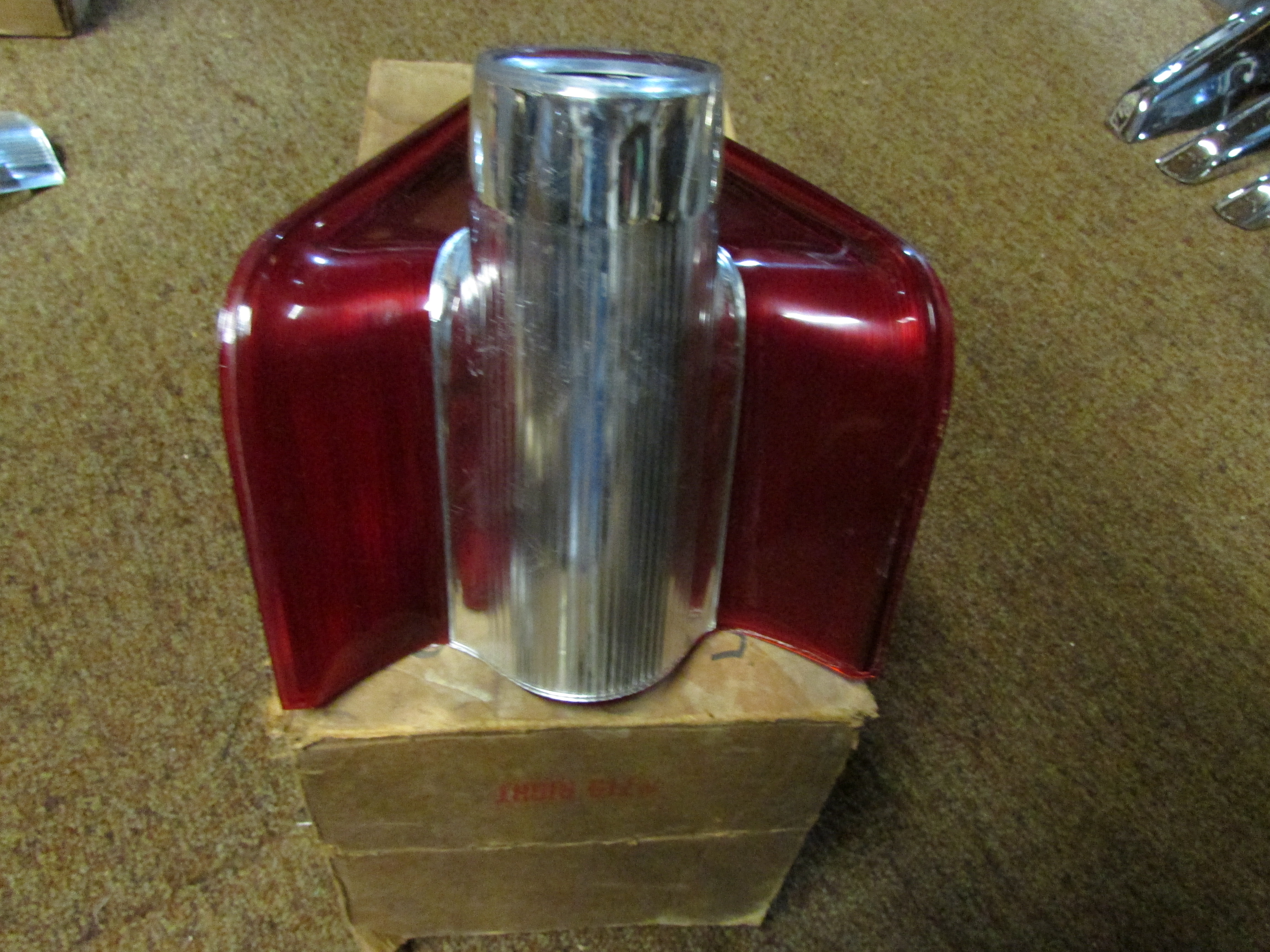 1959 Mercury RH tail lamp lens with cover